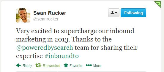 Sean Rucker, #InboundTO feedback