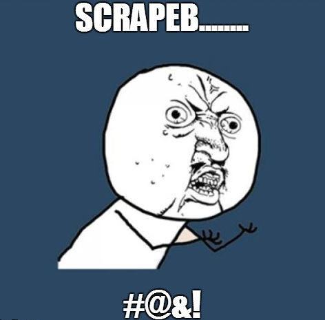 A meme reaction to a newcomer's reaction on using ScrapeBox.