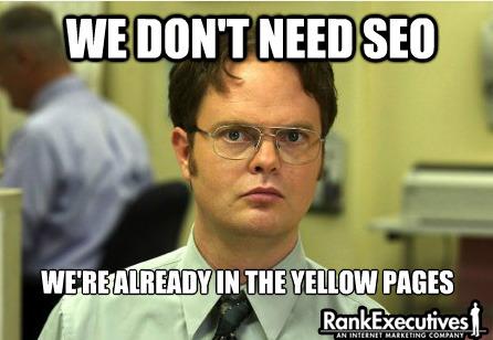 The Office SEO meme
