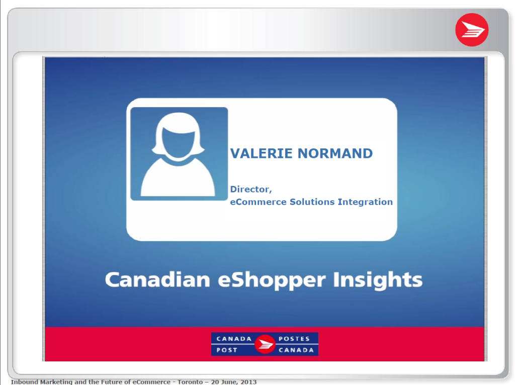 Canadian eShopper Insights presentation