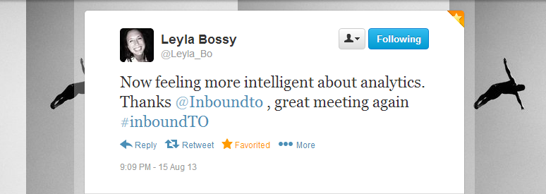 Leyla Bossy Inbound Marketing Toronto tweet