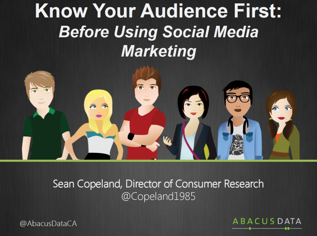 Know your audience first by Sean Copeland