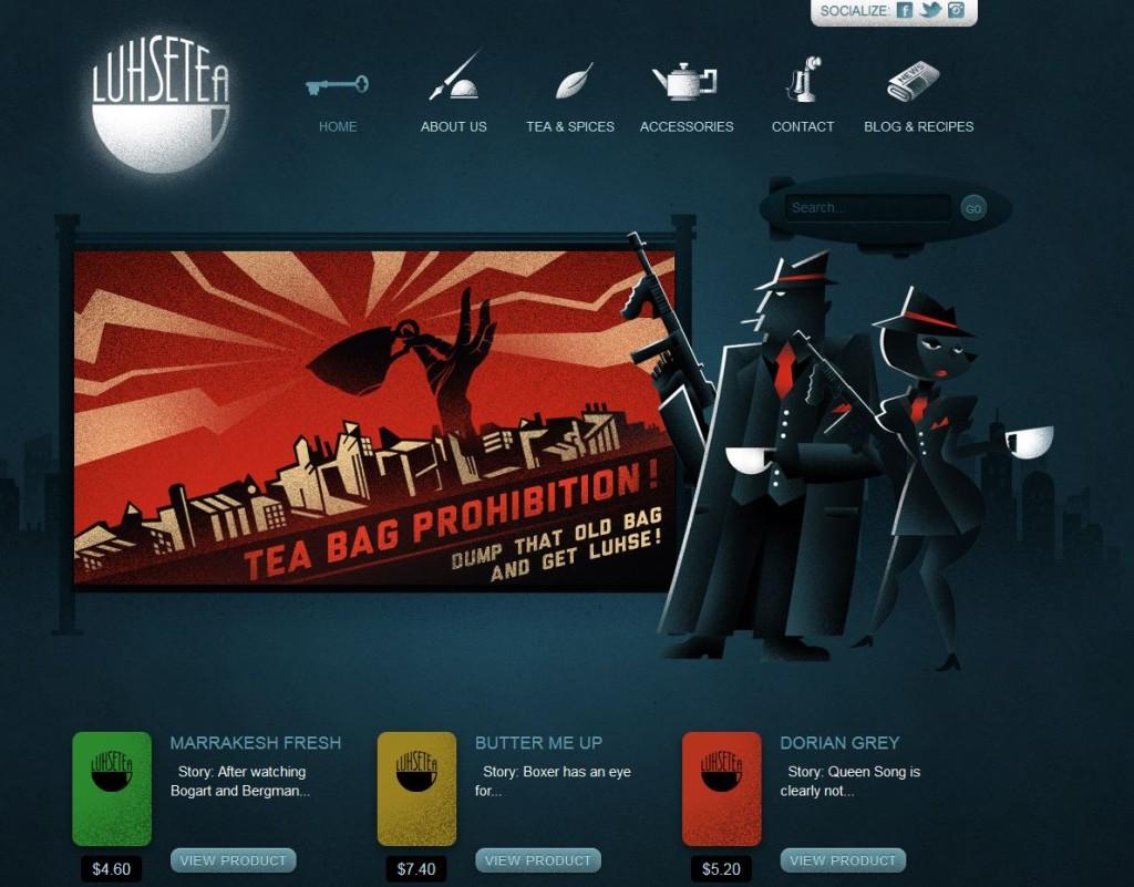 unusual theme web design