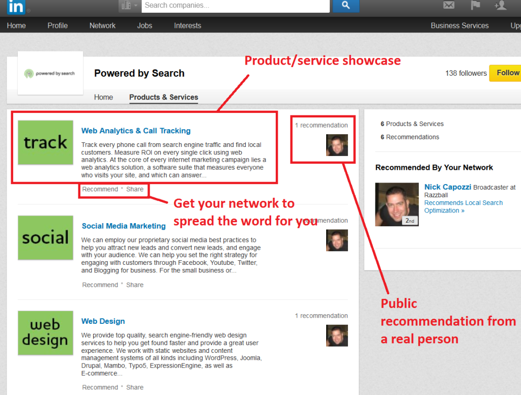 linkedin product showcase