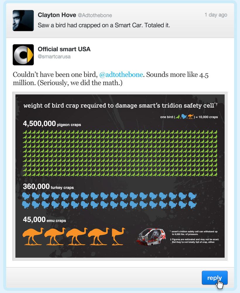 smart's twitter reply: the poop tweet