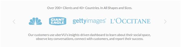 Landing page elements - List of clients