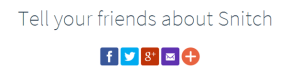 Landing page elements - Social sharing buttons