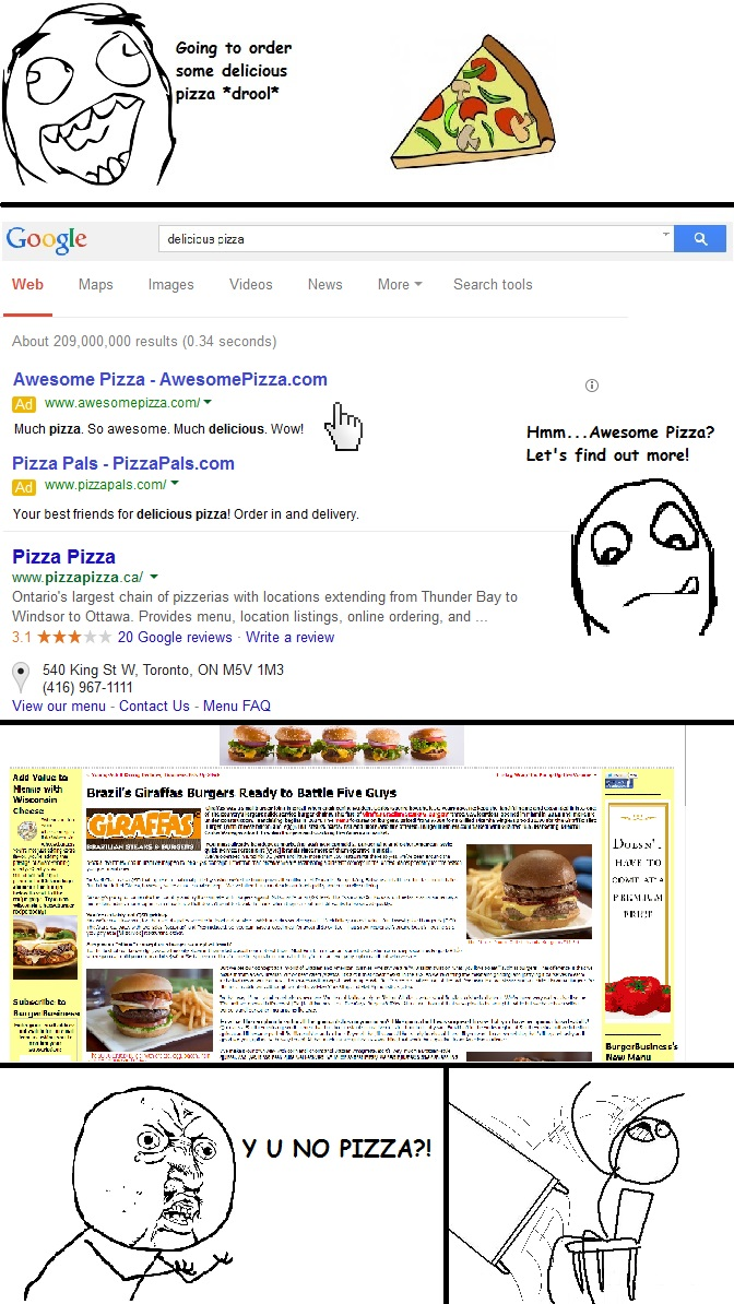pizza search meme
