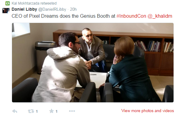 InboundCon Tweet