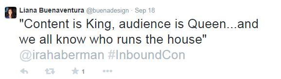 InboundCon Tweet