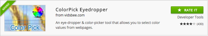ColorPick chrome extension