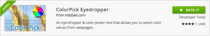 ColorPick chrome extension
