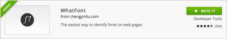 Whatfont chrome extension