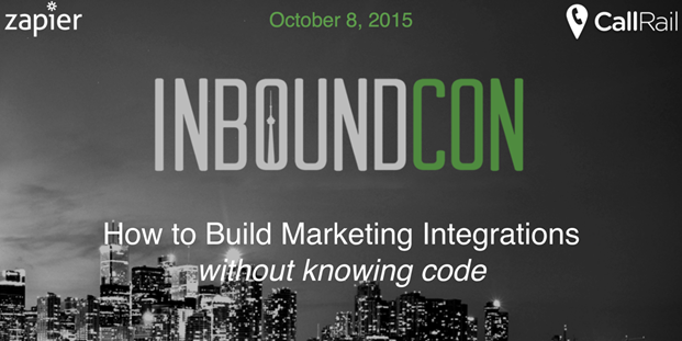 callrail and zapier at inboundcon