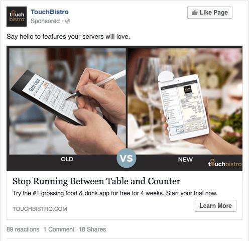 TouchBistro Best Ad Creative