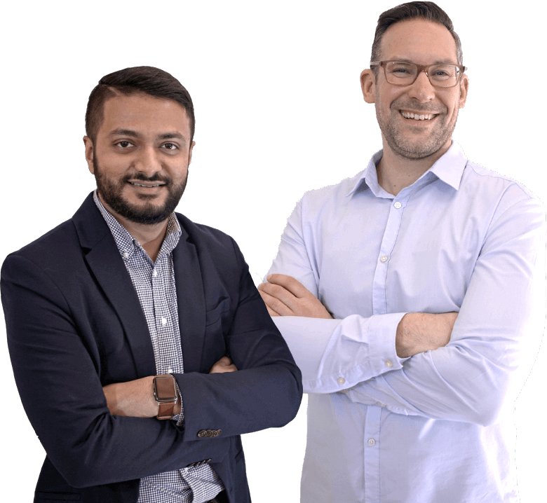 Dev Basu, CEO, and Matthew Hunt, Sr. VP Sales