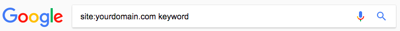 site: search in google