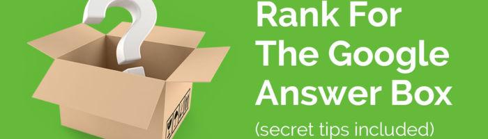 rank for the answer box OG image