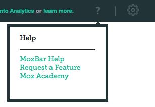 1 mozbar v3 help section