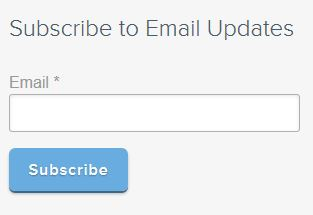 simple email subscription CTA