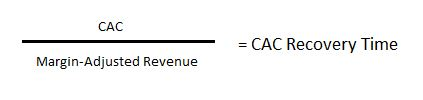 CAC Recovery Time calculation formula