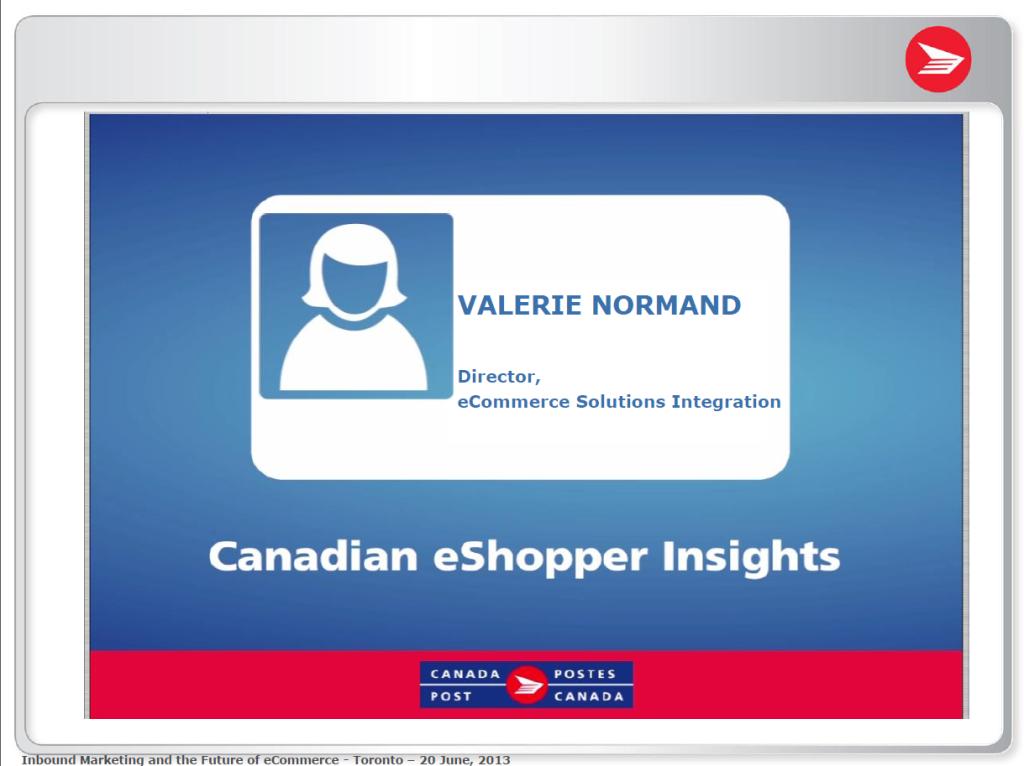 Canadian eShopper Insights presentation