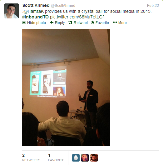 Hamza Khan presentation, Inbound Marketing Toronto meetup