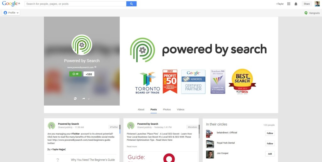 Google plus for companies