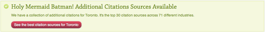 Local Citation Finder - Additional City Sources