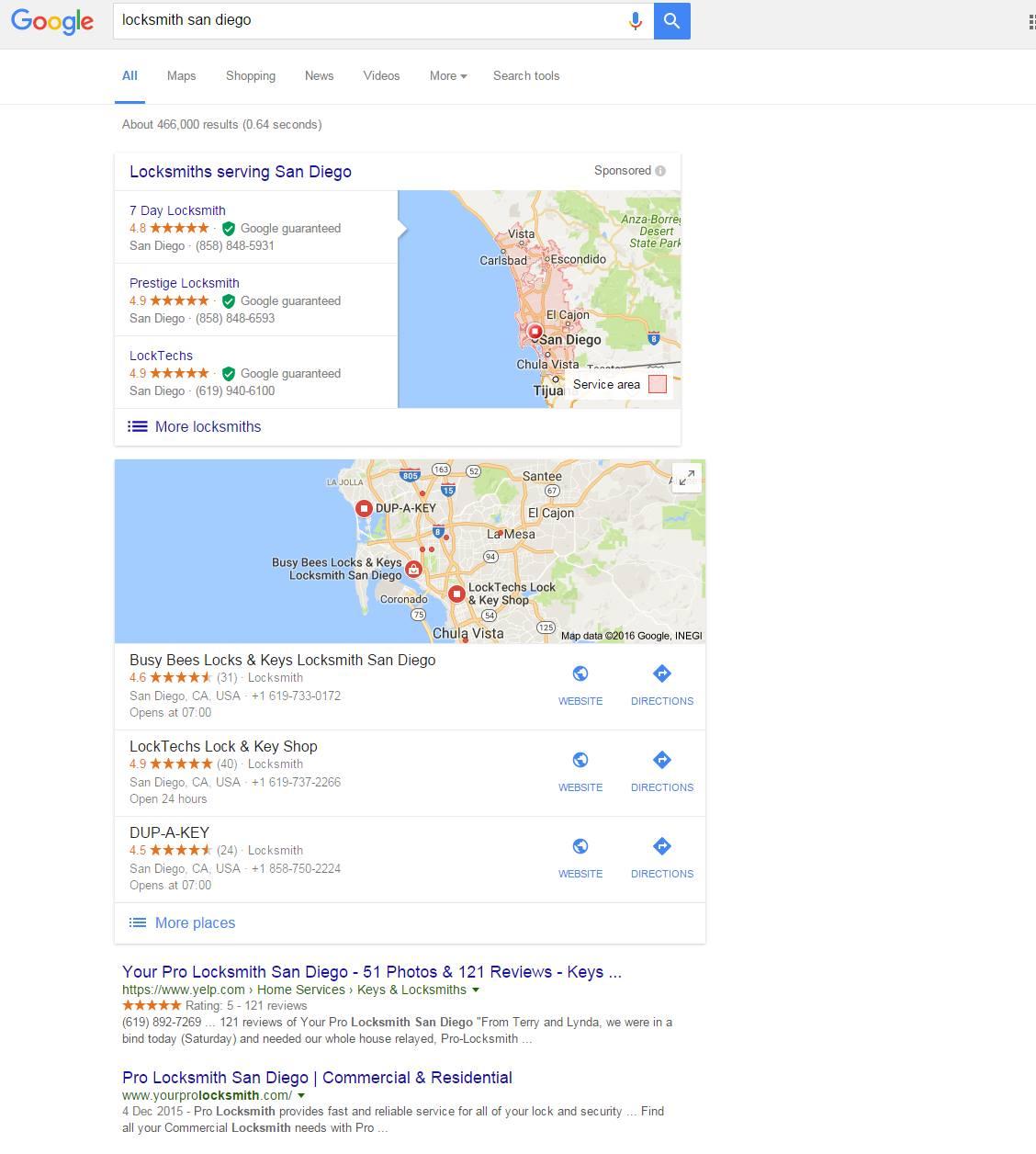 New Local Google Ads Test