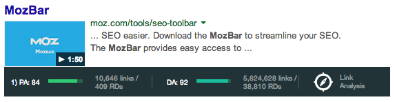 mozbar v3 serp overlay