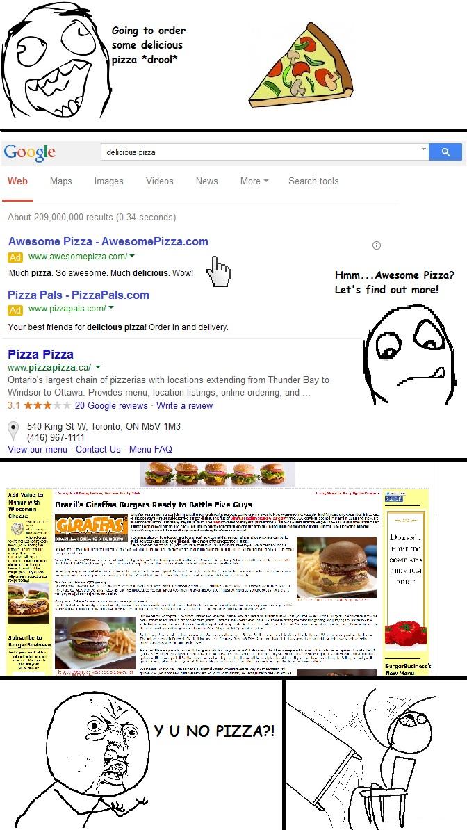 pizza search meme