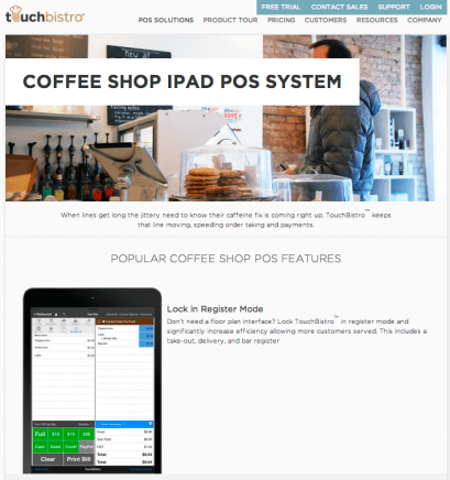 Coffee Shop iPad POS System: Popular Features