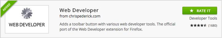 Web Developer chrome extension