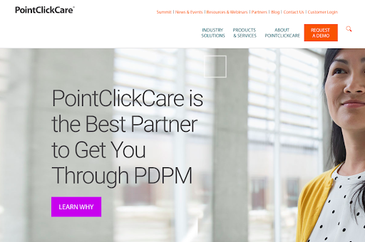 Client example from our SaaS marketing agency: PointClickCare.