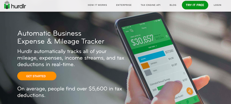 Hurdlr's website: Automatic Business Expense & Mileage Tracker