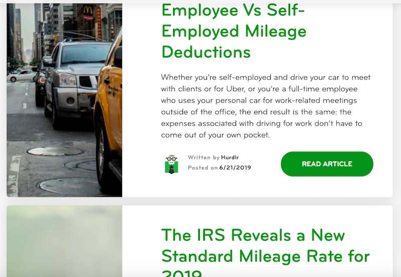 Hurdlr's blog: Employee vs Self-Employed Mileage Deductions