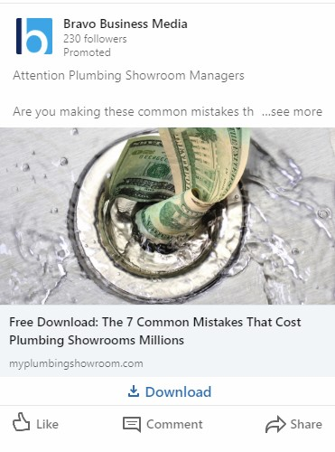 Lead magnet example for B2B LinkedIn Ads for SaaS: 7 Common Mistakes That Cost Plumbing Showrooms Millions