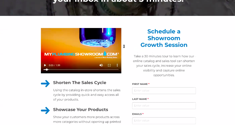 Thank you page example for B2B SaaS LinkedIn ad offering to schedule a demo.