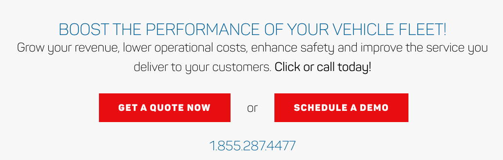 Example of a clear call-to-action: Boost the performance of your vehicle fleet!