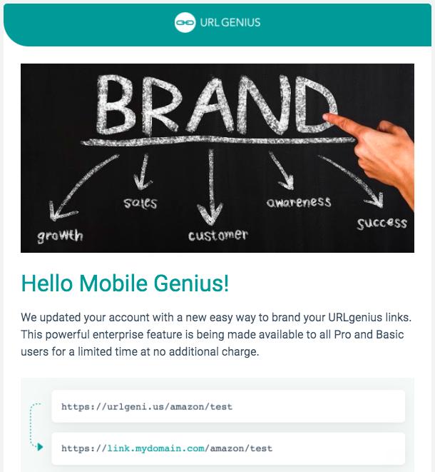 A URL Genius advertisement