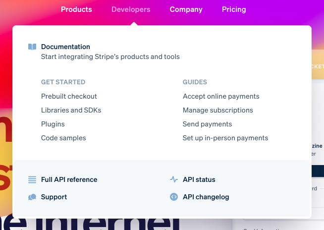 A preview of Stripe