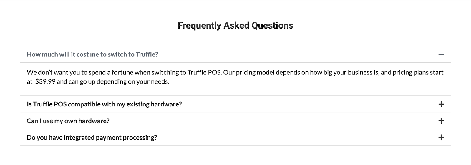 FAQ's about Truffle POS