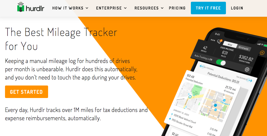 SaaS SEO case study product page example: The Best Mileage Tracker for You
