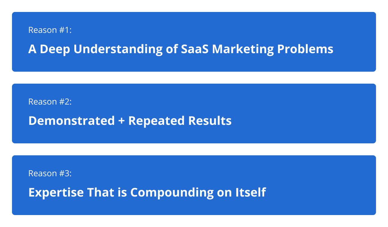 The Reasons We Landed on Becoming a B2B SaaS Marketing Agency