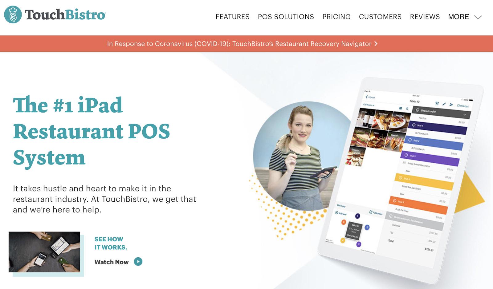 SaaS marketing case study with TouchBistro