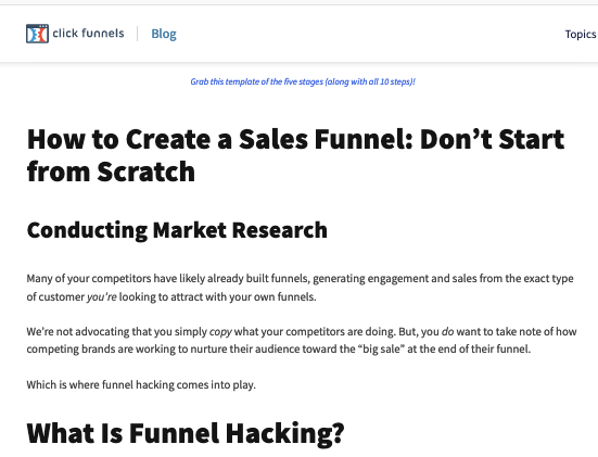 """How to Create a Sales Funnel: Don't Start from Scratch"""