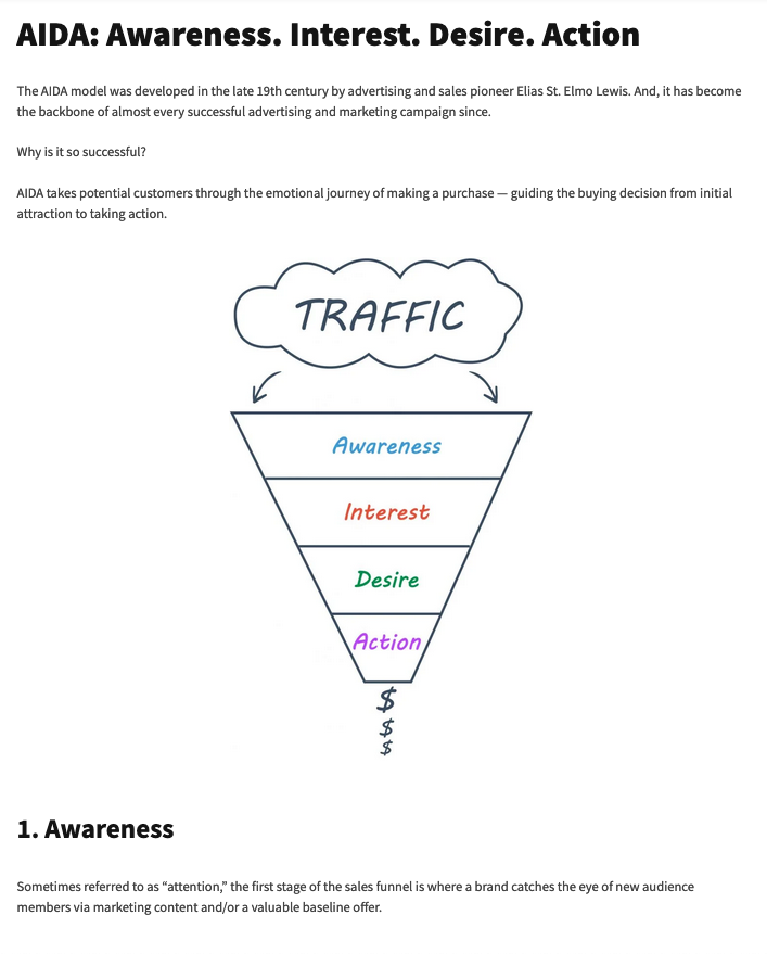 Content marketing strategy case study example: New version of the sales funnel graphic
