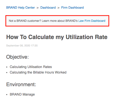 "Preview of the CTA added before the ""How to Calculate my Utilization Rate"" piece."