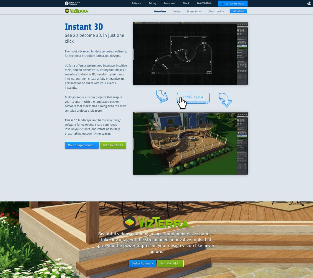 Structure Studios product page for VizTerra
